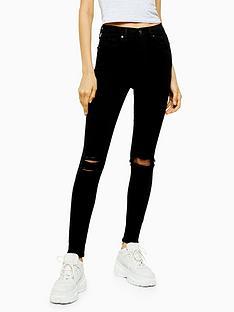 topshop-tallnbsparizonanbsprip-jamie-jeans--nbspblack