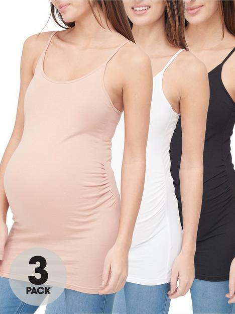 v-by-very-valuenbsp3-pack-maternity-cami-blacknudewhite