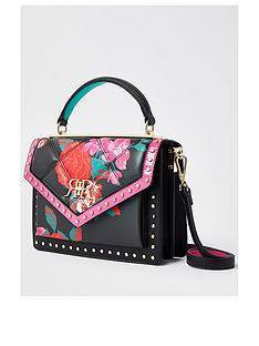 river-island-floral-satchel-cross-body-bag-black