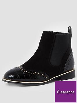 river-island-girls-croc-studded-bootsnbsp--black