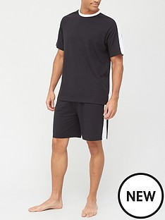very-man-valuenbspside-panel-t-shirt-amp-short-set-black