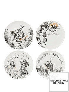 va-alice-in-wonderland-set-of-4-side-plates