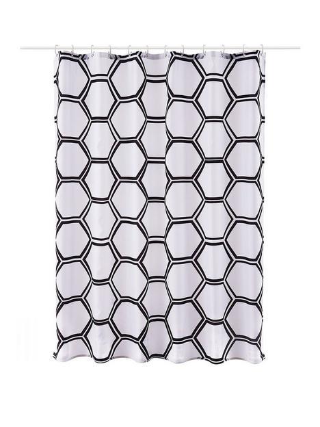 aqualona-honeycomb-shower-curtain
