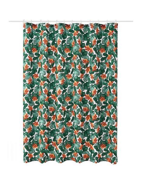 aqualona-tropical-leaf-shower-curtain