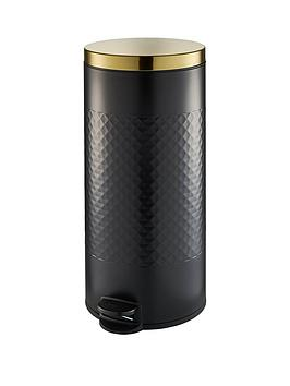 swan-gatsby-30-litre-pedalnbspbin-ndash-black
