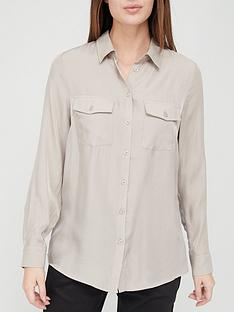 v-by-very-double-pocket-shirt-taupe