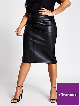 ri-plus-punbspponte-hybrid-pencil-skirt-black