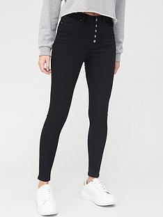v-by-very-ella-high-waist-button-fly-skinny-jean-black
