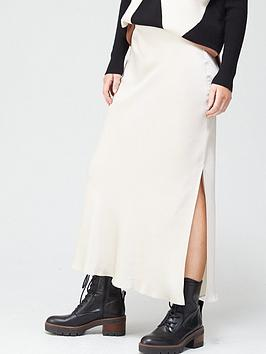 river-island-side-split-satin-midi-skirt-cream