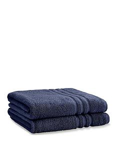 catherine-lansfield-zero-twist-bath-sheets-navy