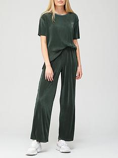 v-by-very-longline-plisse-co-ord-top-andnbspwide-leg-trouser-set-khaki