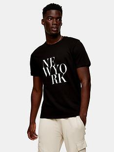 topman-ny-text-print-short-sleeve-t-shirt--nbspblack