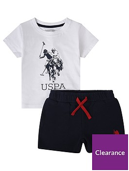 us-polo-assn-toddler-boys-t-shirt-and-short-set-whitenavy