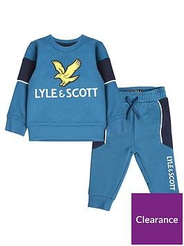 lyle-scott-toddler-boys-eagle-logo-sweat-and-jog-set-teal