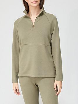 v-by-very-premium-soft-touch-half-zip-co-ord-top-khaki
