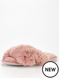 boux-avenue-knot-slider-slippers-pink
