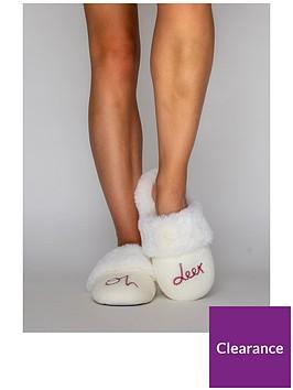 boux-avenue-oh-deer-slipper-cream