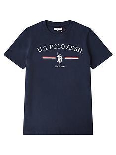 us-polo-assn-boys-stripe-rider-print-short-sleeve-t-shirt-navy