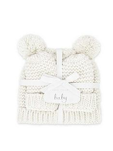 katie-loxton-baby-hat-and-mittens-set-white-0-6-months