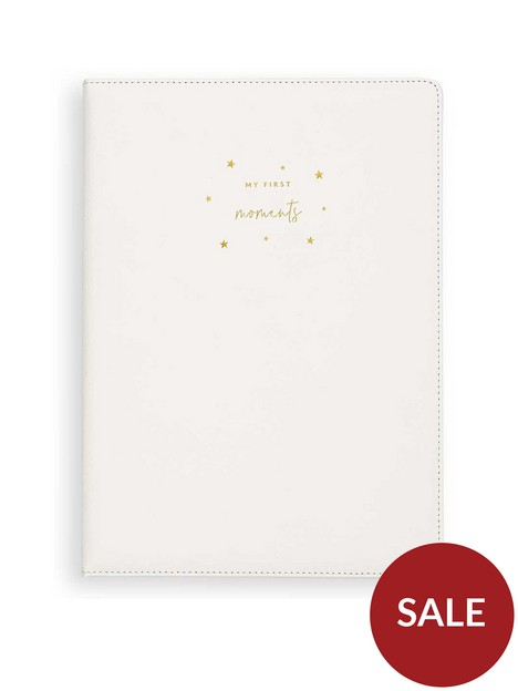 katie-loxton-a4-baby-keepsake-pu-book-my-first-moments-white-297-x-21cm