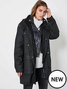 mint-velvet-double-layer-waxed-parka-black