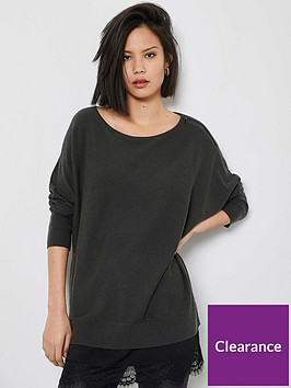 mint-velvet-lace-woven-layered-knit-top-black