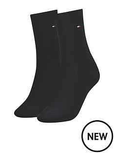 tommy-hilfiger-womensnbsplogo-socks-2-pack-blacknbsp