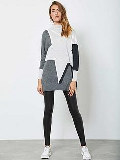 mint-velvet-blocked-star-batwing-tunic-grey