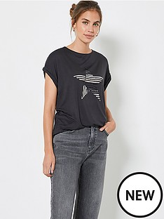 mint-velvet-stripe-sequin-star-t-shirt-charcoal
