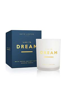 katie-loxton-sentiment-candle-live-to-dream-white-orchid-and-soft-cotton-160g
