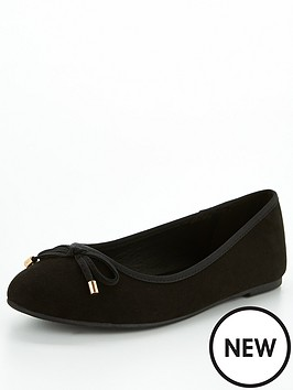 v-by-very-valuenbsplucky-wide-fit-round-toe-ballerina-black