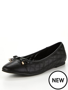 v-by-very-melissa-quilted-ballerina-pumps-black