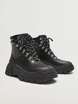 mango-chunky-walking-boots-black