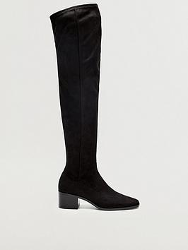 mango-suedette-over-the-knee-boots-black