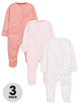 mini-v-by-very-baby-girls-3-pack-essentialsnbspsleepsuits-pink
