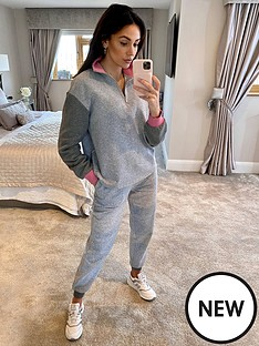 michelle-keegan-colour-block-joggers-multi
