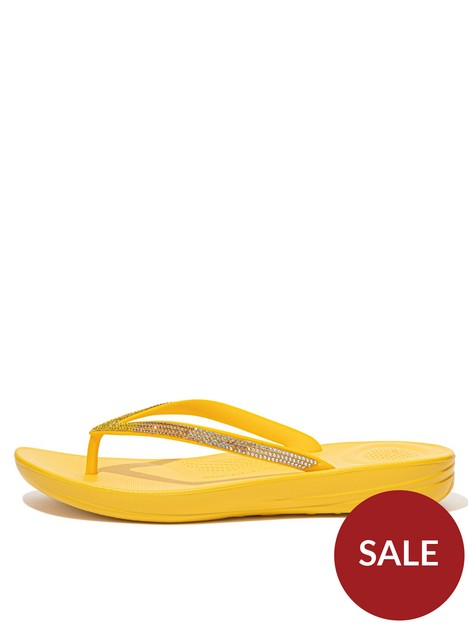 fitflop-iqushion-ombre-sparkle-flip-flop-yellow