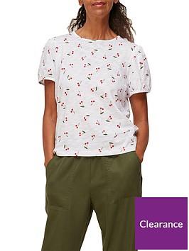 whistles-rosa-double-trim-cherry-print-t-shirt-white