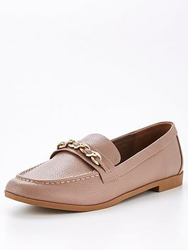 v-by-very-madelyn-chain-trim-loafer-taupe