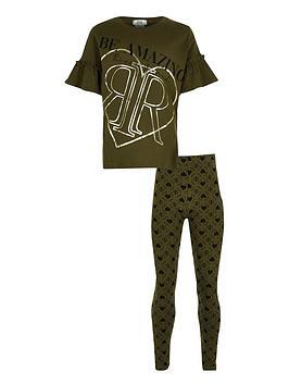 river-island-girls-flute-short-sleevenbspt-shirt-and-leggings-setnbsp-nbspkhaki