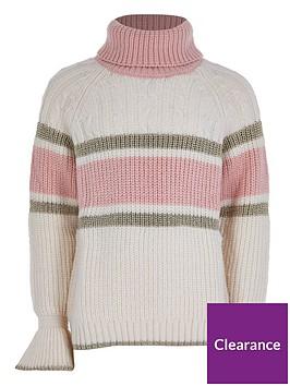 river-island-girls-colour-block-cable-knit-jumper--nbspcream