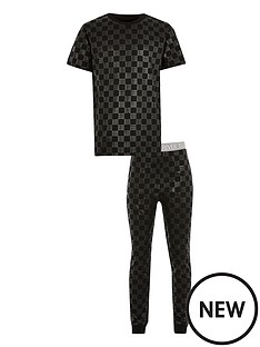 river-island-boys-monogram-pyjama-set-black