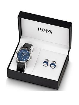 boss-blue-mensnbspwatch-amp-cufflink-gift-set