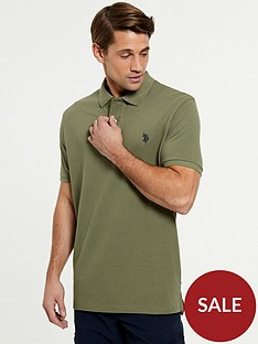 us-polo-assn-core-pique-regular-fitnbsppolo-shirtnbsp--green