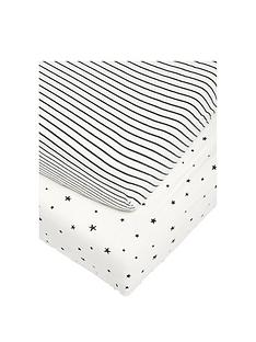 mamas-papas-2-cotbed-fitted-sheets-starry-skies