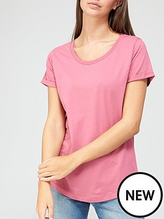 v-by-very-basic-scoop-neck-t-shirt-pink