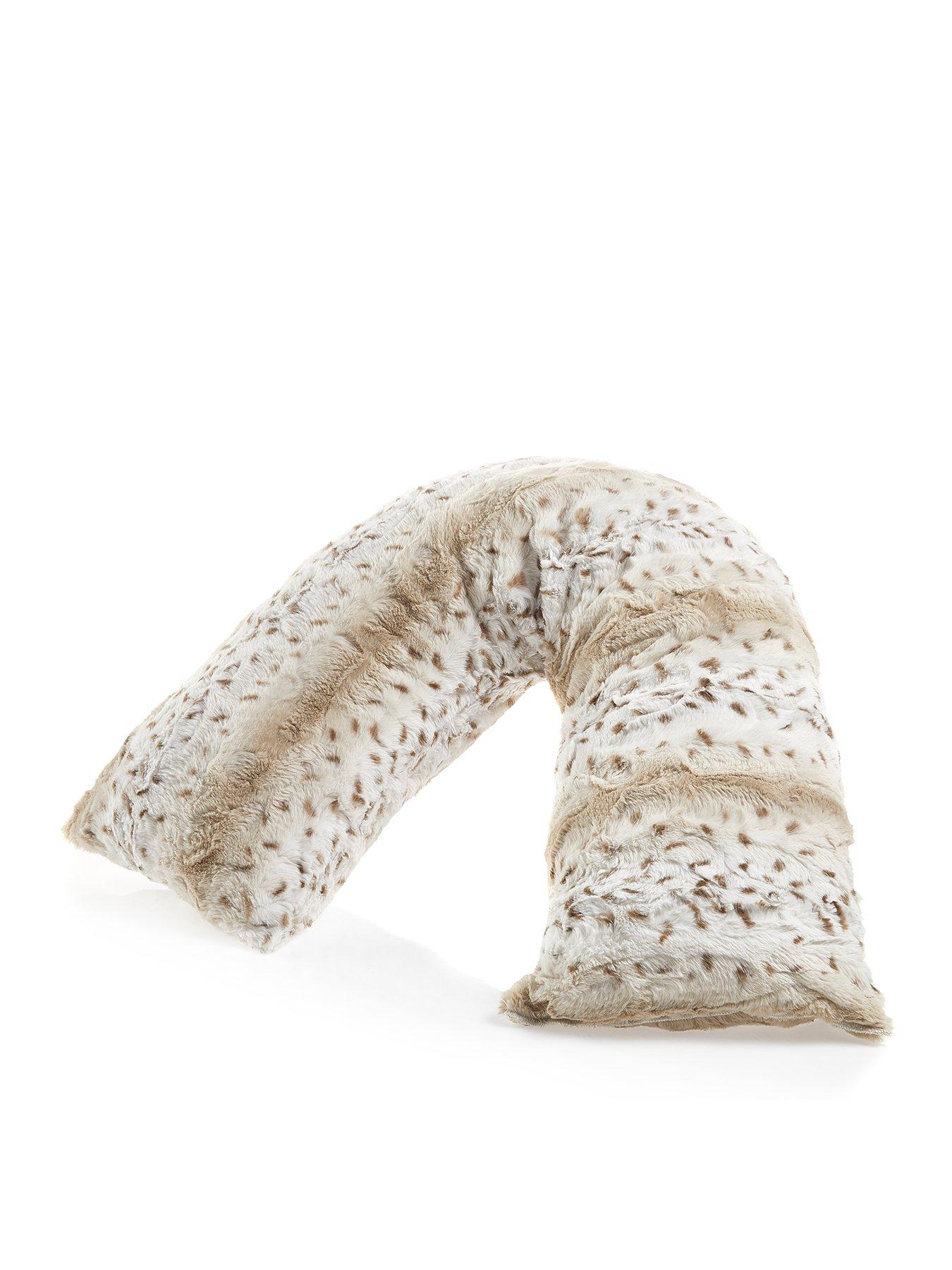 Snow Leopard Print V Shaped Pillow | Dunelm
