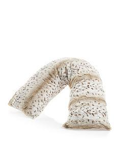 downland-everyday-snow-leopard-printnbspv-shaped-faux-fur-pillow