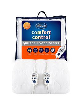Product photograph showing Silentnight Comfort Control Double Heated Mattress Topper