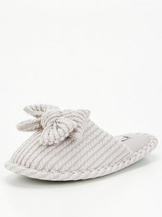 v-by-very-vanessa-bow-mule-slipper-grey